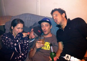 Backstage action with the Hell boys and Girls...