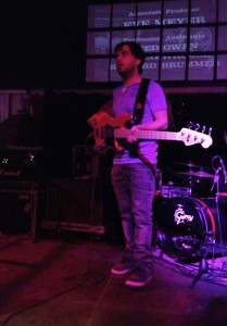 Bass player in Action